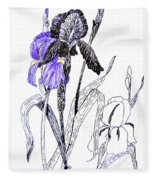 Blue Iris Fleece Blanket