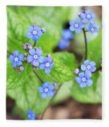 Blue Jack Frost Flowers Fleece Blanket