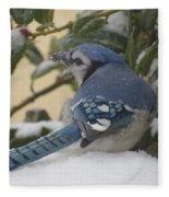 Blue Jay Beauty Fleece Blanket