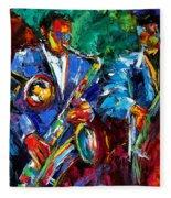 Blue Jazz Fleece Blanket