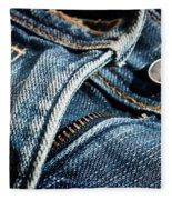 Blue Jeans Fleece Blanket