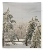 Blue Knob Winter Fleece Blanket