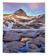 Blue Lake Sunrise Fleece Blanket
