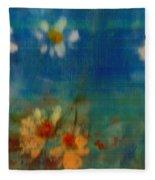 Blue Landscape In Oil Fleece Blanket