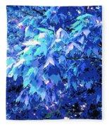Blue Autumn  Fleece Blanket