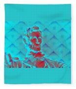 Blue Lincoln Fleece Blanket