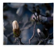 Blue Magnolia Fleece Blanket
