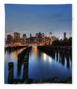 Blue Manhattan Fleece Blanket