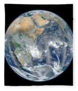 Blue Marble 2012 - Eastern Hemisphere Of Earth Fleece Blanket