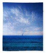 Blue Mediterranean Fleece Blanket