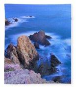 Blue Mermaid Reef At Sunset Fleece Blanket