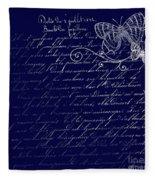 Blue Midnight Butterfly Fleece Blanket