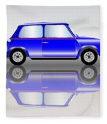 Blue Mini Car Fleece Blanket
