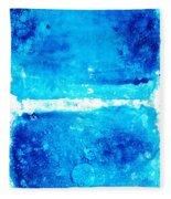 Blue Modern Art - Two Pools - Sharon Cummings Fleece Blanket