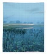 Blue Morning Flash Fleece Blanket