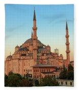 Blue Mosque Blue Hour Fleece Blanket