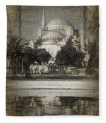Blue Mosque - Sketch Fleece Blanket