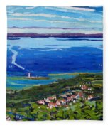 Blue Mountain Blues Fleece Blanket