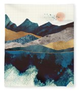 Blue Mountain Reflection Fleece Blanket