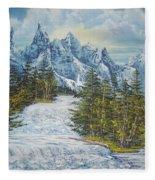 Blue Mountain Torrent Fleece Blanket