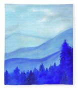 Blue Mountains Fleece Blanket