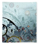 Blue Mystery Forest Of Flowers And Tendrils Fleece Blanket