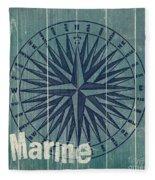 Blue Nautical-jp3616 Fleece Blanket