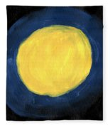 Blue Night Sun Fleece Blanket