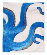 Blue Octopus Fleece Blanket