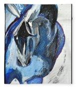 Blue Olympic Horse  Fleece Blanket