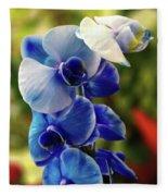 Blue Orchid Fleece Blanket