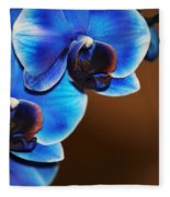 Blue Orchids Fleece Blanket