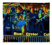 Blue Oyster Cult Jamming In Oakland 1976 Fleece Blanket