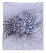 Blue Pagliai Ferns Fleece Blanket