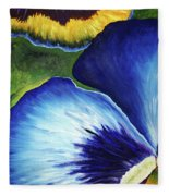 Blue Pansies  Fleece Blanket