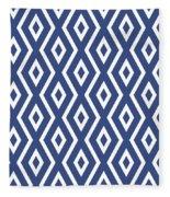 Blue Pattern Fleece Blanket