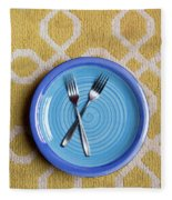 Blue Plate Special Fleece Blanket