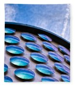 Blue Polka-dot Wave Fleece Blanket