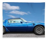 Blue Pontiac Trans Am 1978 Fleece Blanket