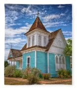 Blue Prairie Church Fleece Blanket