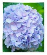 Blue Purple Hydrandea Floral Art Botanical Prints Canvas Fleece Blanket