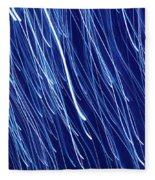 Blue Rain Abstract Fleece Blanket