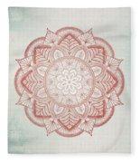 Blue Red Mandala Fleece Blanket