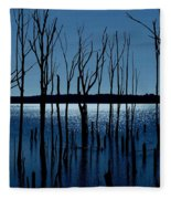 Blue Reservoir - Manasquan Reservoir Fleece Blanket