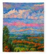 Blue Ridge Cloud Burst Fleece Blanket