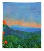 Blue Ridge Morning Fleece Blanket