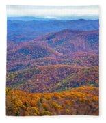 Blue Ridge Mountains 4 Fleece Blanket