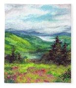Blue Ridge Mountains Near Asheville Fleece Blanket