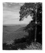 Blue Ridge Mountains - Virginia Bw 10 Fleece Blanket