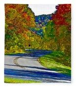 Blue Ridge Parkway Interpretation Fleece Blanket